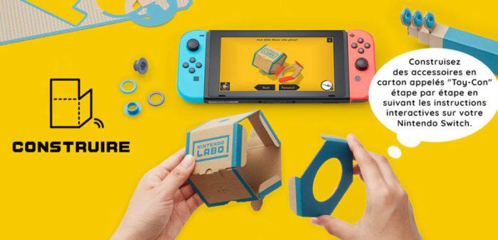 Nintendo labo construire