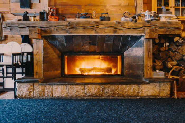 Grille foyère pour cheminée