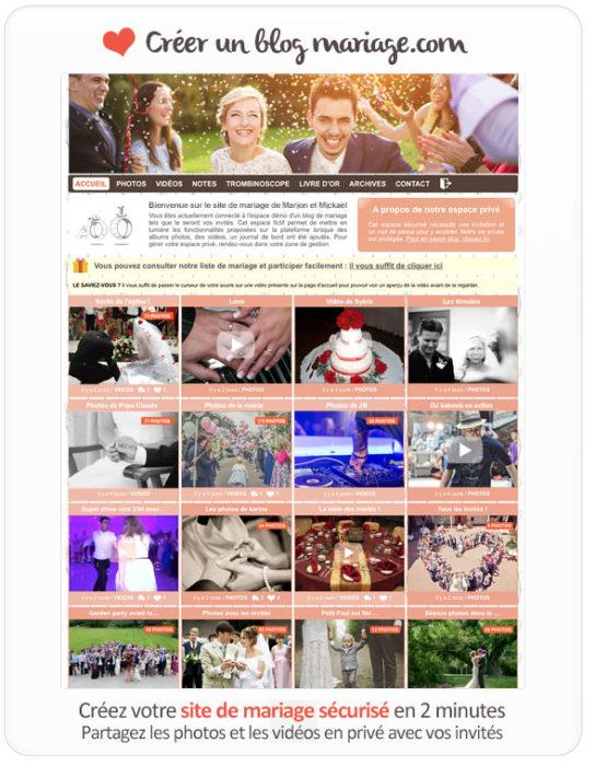 blog mariage privé