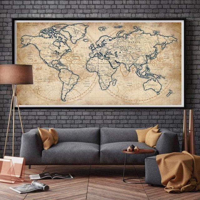 tableau carte du monde
