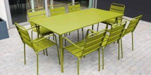 table jardin métal
